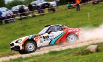 Rally Liepāja pirmās dienas finišā ātrākais Olivers Solbergs