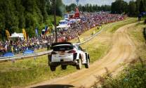 Ott Tänak and Martin Järveoja dominated the opening day at Shell Helix Rally Estonia